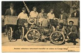 RC 8026 ANCIENS COLONIAUX RETOURNANT TRAVAILLER EN COLONS AU CONGO BELGE VELO CYCLISTE IMP. PIERROT ALGER ALGERIE - Congo Belge - Autres
