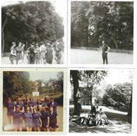 BEAUMONT : Lot De 9 Photos - Parc De L'Institut Parideans Avec Eleves Et Professeur De Gymnastique - Années 60 - Beaumont