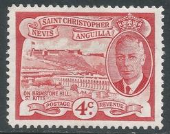 St Kitts-Nevis. 1952 KGVI. 4c MH. SG 97 - St.Christopher-Nevis-Anguilla (...-1980)