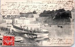 56 BELLE ILE EN MER - Mise à L'eau Du Canot De Sauvetage (manque En Bas) - Belle Ile En Mer