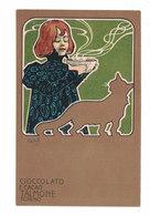 CARTOLINA PUBBLICITARIA CARTE POSTALE CIOCCOLATO E CACAO TALMONE TORINO Illustratore LASKOFF - Pubblicitari