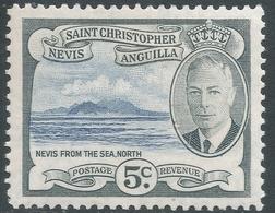 St Kitts-Nevis. 1952 KGVI. 5c MH. SG 98 - St.Christopher-Nevis-Anguilla (...-1980)