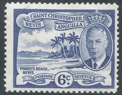 St Kitts-Nevis. 1952 KGVI. 6c MH. SG 99 - St.Christopher-Nevis-Anguilla (...-1980)
