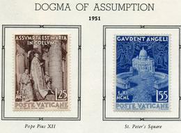 1951 - VATICANO - VATIKAN - Unif.  143/144 - LH - (VAT.2646 - 4...) - Vatican