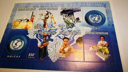 Bloc UNICEF 1996 + Espace + Santé - Space