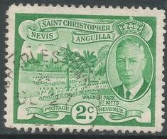 St Kitts-Nevis. 1952 KGVI. 2c Used. SG 94 - St.Christopher-Nevis-Anguilla (...-1980)