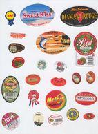 Etiquettes De Fruits : Melons Pasteques Lot 10 - Fruit Labels Melons Watermelons Lot # 10 Melones Sandias Melone - Fruits & Vegetables