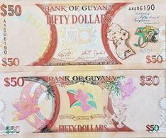 RC) GUYANA BANK NOTE 50 DOLLARS UNC ND 2016 - Guyana