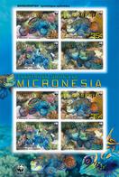 MICRONESIA  848 E ; MINT N H STAMPS OF WWF MARINE LIFE ; MANDARINFISH - Mikronesien