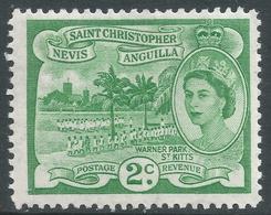 St Kitts-Nevis. 1954-63 QEII. 2c MH. SG 108 - St.Christopher-Nevis-Anguilla (...-1980)