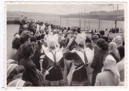 Lot De 4 Anciennes Photos Années 60 Danse Costumes Coiffes Douarnenez ? A Identifier - Personnes Anonymes