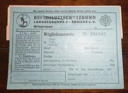1934-Reichsluftschutzbund-Landesgruppe Nordmark-Mitgliedsausweis - 1939-45