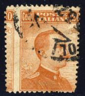 Varieta' Effigie Di V.E.III Tipo Michetti 20 Cent (vedi Descrizione) Signed G.Biondi - 1900-44 Victor Emmanuel III.