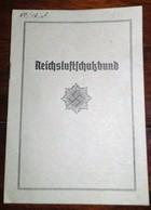 1934-Reichsluftschutzbund-Ortsgruppe Hamburg-Mitgliedsausweis - 1939-45