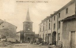 CPA - BOUXIERES-aux-BOIS (88) - Aspect Du Quartier De La Mairie Et De L'Eglise En 1923 - France