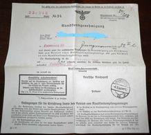 Februar 1942-Rundfunkgenehmigung-SELTEN !!! - 1939-45