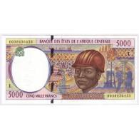 BEAC/GABON - PICK 404 L - 5 000 FRANCS - NON DATE - NEUF - Gabon