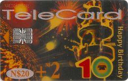 Namibia - Telecom Namibia - Happy Birthday (Transparent) 01.2003, 20$, SC7, Used - Namibia