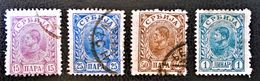 ROYAUME - ROI ALEXANDRE 1 ER OBRENOVITCH 1894/00 - OBLITERE 43 + 45/45 - NEUF * 47 - Serbie