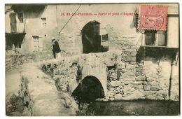 CPA 09 Ariège Ax-les-Thermes Porte Et Pont D'Espagne Animé - Ax Les Thermes