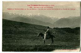CPA 09 Ariège Ax-les-Thermes Environs Passage Du Facteur Rural Au Col De Chioula  Animé - Ax Les Thermes