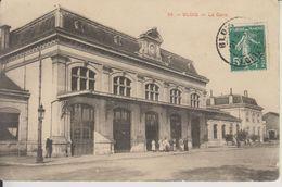 D41 -  BLOIS - LOT DE 2 CARTES - LA GARE (UNE AVEC DES PERSONNES - L'AUTRE AVEC DES CALECHES) - Blois