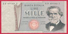 Italie, 1000 Lire, Type Verdi, 1969, SPL - [ 2] 1946-… : Républic