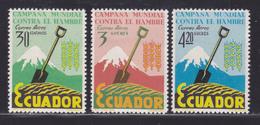 EQUATEUR AERIENS N°  399 à 401 ** MNH Neufs Sans Charnière, TB (D5975) Campagne Mondiale Contre La Faim - Ecuador
