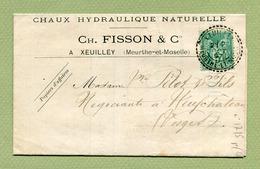 XEUILLEY 1897 Sur SAGE : Oblitération FACTEUR BOITIER N° 1715 - Marcophilie (Lettres)