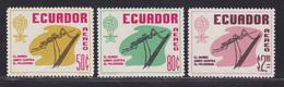 EQUATEUR AERIENS N°  402 à 404 ** MNH Neufs Sans Charnière, TB (D5976) Eradication Du Paludisme - Ecuador