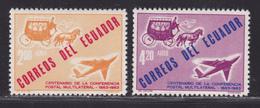 EQUATEUR AERIENS N°  405 & 406 ** MNH Neufs Sans Charnière, TB (D5977) Conférence Postale, Avion, Diligence - Ecuador