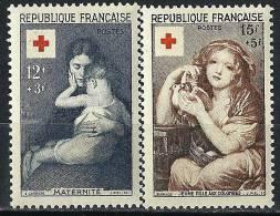 """FR YT 1006 & 1007 """" La Croix-Rouge """" 1954 Neuf** - Francia"""