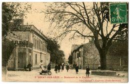 CPA 09 Ariège Lézat-sur-Lèze Boulevard De La Coquère Animé - France
