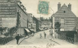 76 CANY BARVILLE /  La Grande Rue Et Le Pont / - Cany Barville