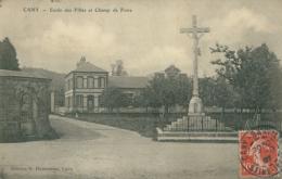 76 CANY BARVILLE / Ecole Des Filles Et Champ De Foire / - Cany Barville