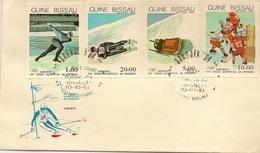 GUINEA - BISSAU 1983 Olympic Winter Games SARAJEVO FDC - Guinea-Bissau