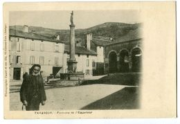 CPA 09 Ariège Tarascon-sur-Ariège Fontaine De L'Empereur Animé - Autres Communes