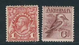 AUSTRALIE  N° 16 & 17 * - Mint Stamps