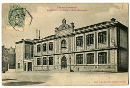 CPA 09 Ariège Saint-Girons La Poste Et L'Ecole Municipale - Saint Girons