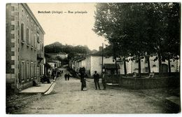 CPA 09 Ariège Betchat Rue Principale Animé - France