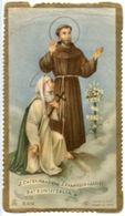 Santino Antico SANTA CATERINA DA SIENA E SAN FRANCESCO D'ASSISI (marcato Eb E/474) - N100 - Religione & Esoterismo