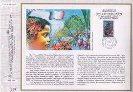 FEUILLET CEF TIRAGE LIMITE, CREATION DES DEPARTEMENTS D'OUTRE-MER, 1996 - Histoire
