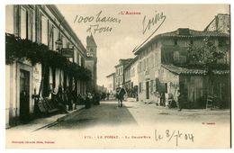 CPA 09 Ariège Le Fossat La Grand'Rue Animé - France
