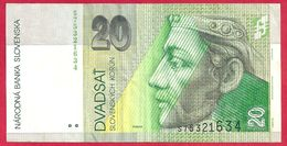 Slovaquie, 20 Korun, Type Cortes, 2004, TB - Slowakei