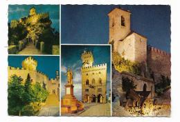 S.MARINO -  VEDUTE + FRANCOBOLLI FRUTTA - VIAGGIATA   FG - San Marino