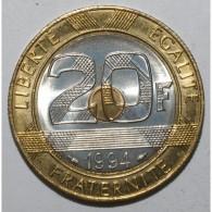GADOURY 871 - 20 FRANCS 1994 TYPE MONT SAINT MICHEL Dauphin - SUP A FDC -KM 1008 - France