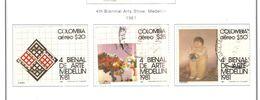 Colombia PA 1981 4 Biennale Arte Medellin   Scott.C702/704+See Scans On Scott.Page - Colombie