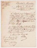 NANTES 44 France -mutation Douanier Moeurs 1825 Machecoul Beauvoir Bouin Grand-pont -Triballeau- Inspection Douane - Documents Historiques
