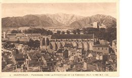 (66) Pyrénées Orientales - CPA - Perpignan - Panorama Vers La Citadelle Et Le Canigou - Perpignan
