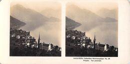 Collection Stéréoscopique GALACTINA N°26 / WEGGIS  (Lucerne) Suisse Vue Générale  -photos Stéréoscopiques NPG 1906 - Stereoscopic